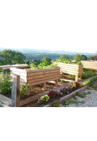 Menuiserie bertin jardini re 1 2 rondins horizontaux for Jardiniere hauteur 1 metre