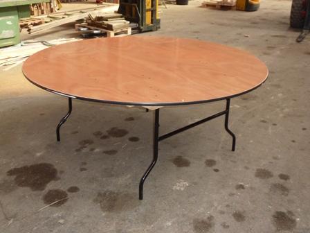 Menuiserie bertin table ronde 152cm sur menuiserie bertin - Table et bancs pliants ...