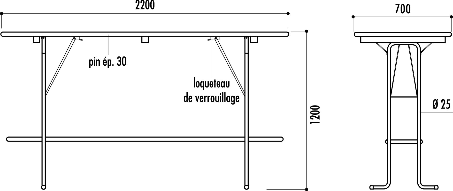 table mange debout menuiserie bertin. Black Bedroom Furniture Sets. Home Design Ideas