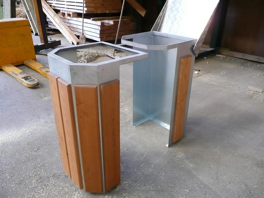 poubelle ronde 130l acier galva menuiserie bertin. Black Bedroom Furniture Sets. Home Design Ideas