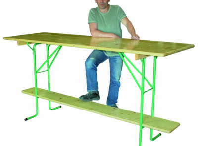 table mange debout pliante