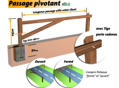 Passage Pivotant Madrier 3 m