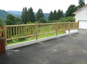 Elément de clôture bois à barreaudage 90×200