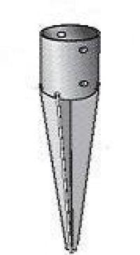 Pied de poteau rond enfoncer 8 ou 10cm menuiserie bertin - Support de poteau a visser ...
