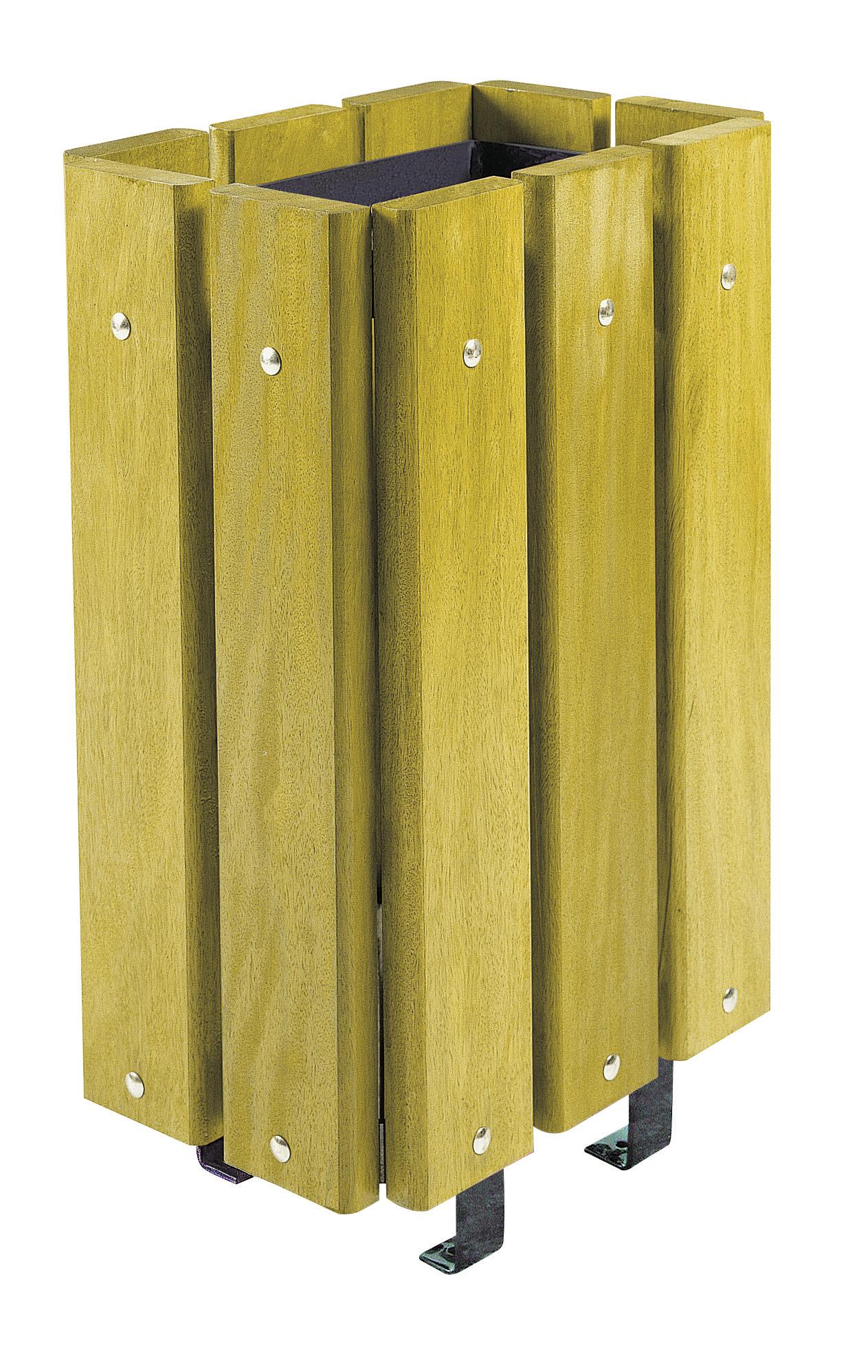 poubelle rectangulaire habillage bois 30l sans couvercle menuiserie bertin. Black Bedroom Furniture Sets. Home Design Ideas