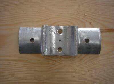 Raccord métallique galva pour rondin Ø10 à 12cm