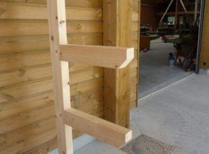 Rack en bois pour petites charges