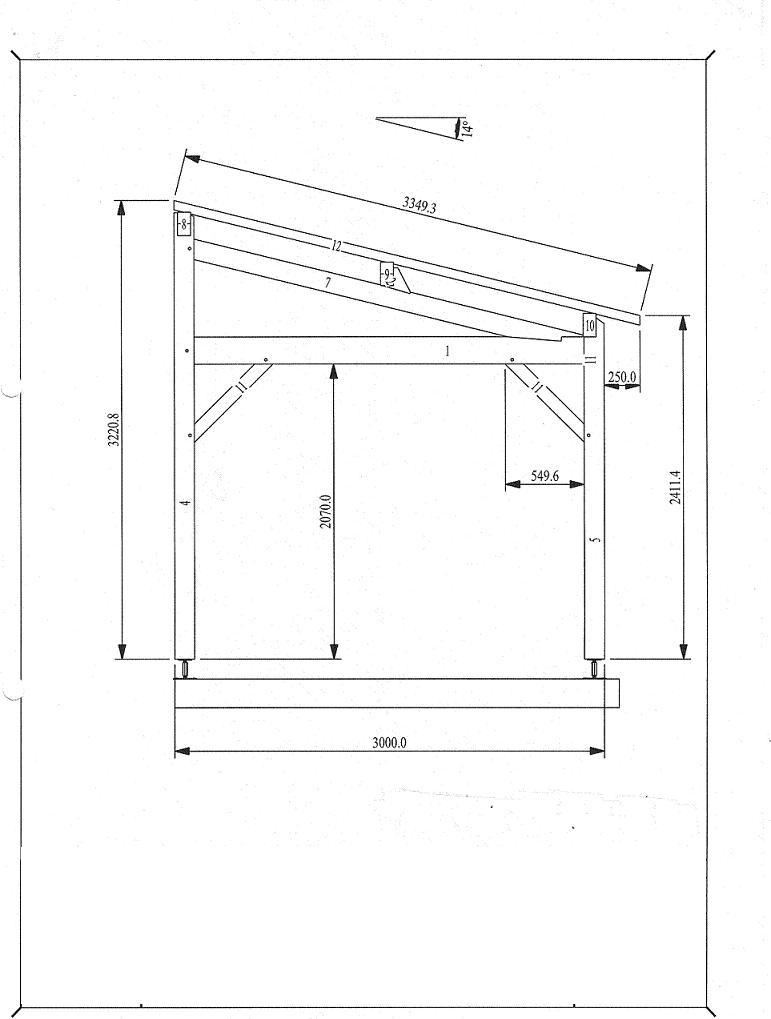 Carport 3mx3m mono pente avec chevrons menuiserie bertin - Montage carport bois ...