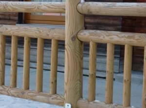 Poteau pour Clôture bois balustre citadine Ø16 en 1m70