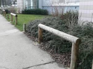 Clôture bois main courante Ø10cm