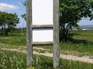 Panneau Rondin double affichage