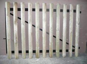 Portail cadre acier habillage planchettes 22 x 90