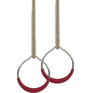 anneaux-gymnastique-acier-chanvre-blanc