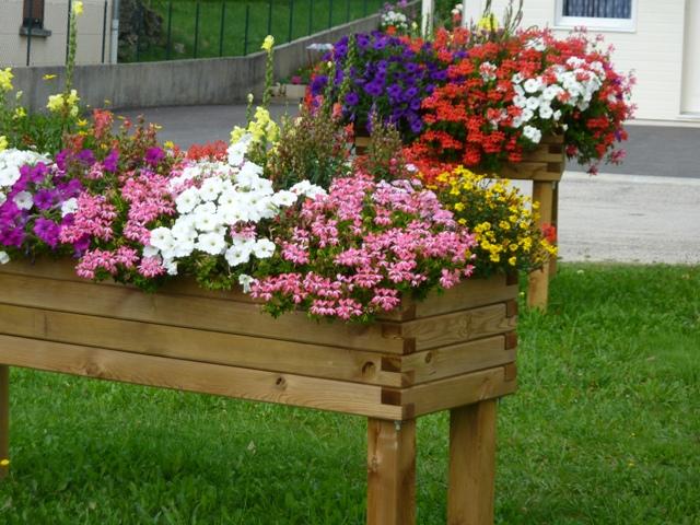 Jardini re mibois autoclave surrelev e 100cm x 100cm x 100cm menuiserie bertin - Jardiniere en bois ...