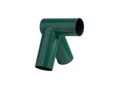 Angle acier droit ou oblique rond Ø12cm-Ø10cm vert