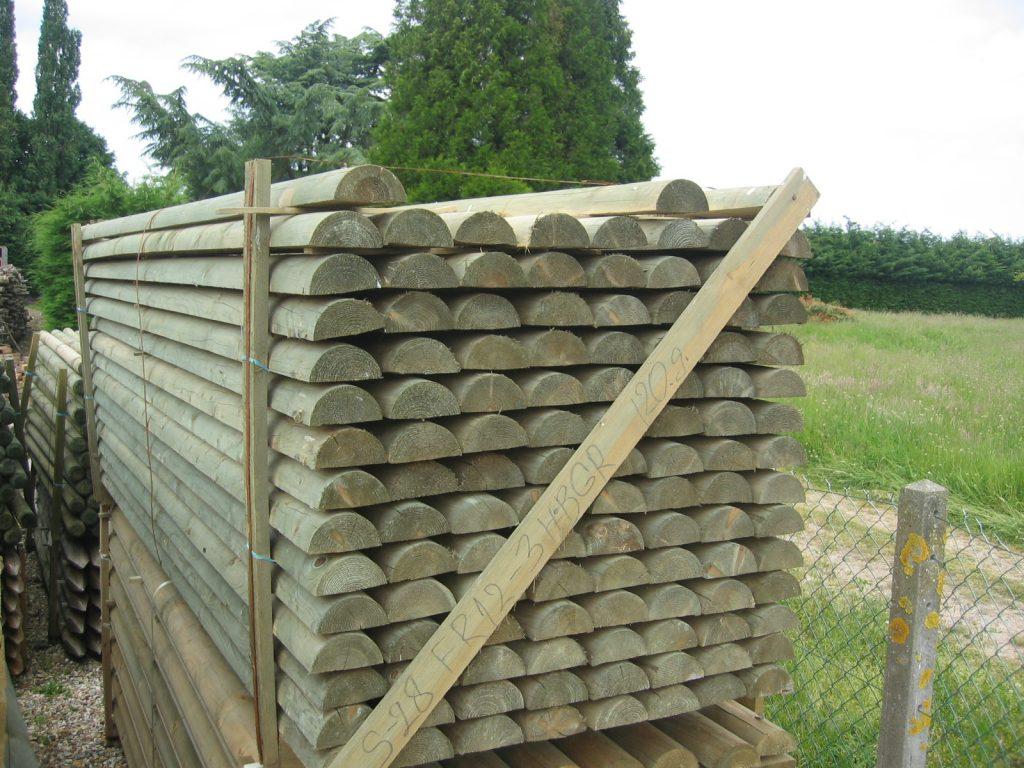 Demi rondin bois pin autoclave classe 4 menuiserie bertin - Abri de jardin bois autoclave classe 4 ...
