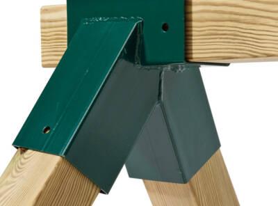 Angle acier droit ou oblique carré 9cmx9cm vert