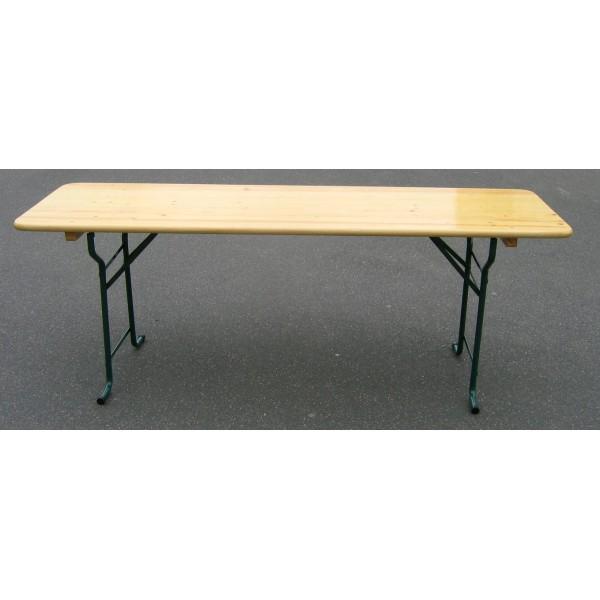 table pliante 60 cm x 200 cm menuiserie bertin. Black Bedroom Furniture Sets. Home Design Ideas