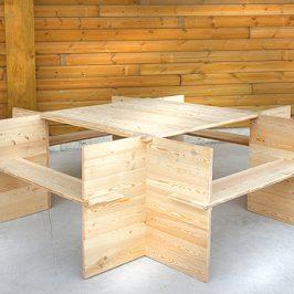 Une nouvelle table design et démontable hors du commun