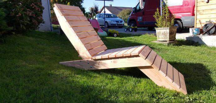 Chaise longue en douglas