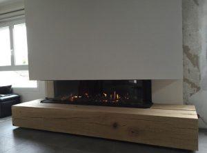 poutre de cheminée bois massif