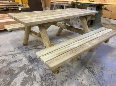 Rondin de bois autoclave classe 4 menuiserie bertin - 1m70 en pied ...