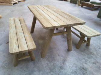 ensemble table et bancs séparés type K