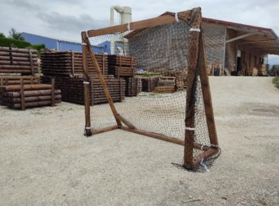 cage de football en bois